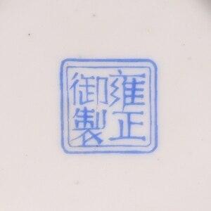 Image 5 - Jingdezhen עתיק קרמיקה אמייל אגרטל כיכר אגרטלי פרחים וציפורים דפוס עתיק מינג וצ ינג פורצלן