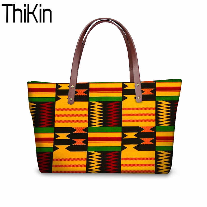 THIKIN Women's Top Handle Bags African Traditional Printing Handbags Ladies  Large Shoulder Tote Bag for Females Fashion Hand Bag Shoulder Bags  -  AliExpress
