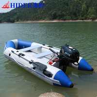 HIDER HY 300 cm 0.9 mm PVC Inflatable Boat China Cheap Motor Marine Float Tube Boat Aluminum Seat Inflatable Boat Fishing