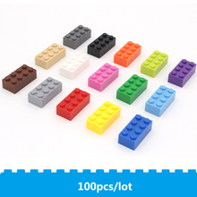 цена на 100pcs/lot building brick 2*4 diy blocks toys Compatible with known brand 3001 Early education training  toys toys for children