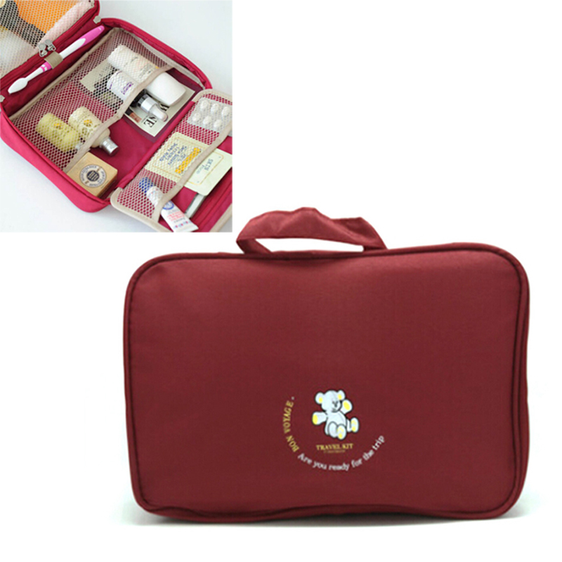4 Colors Multifunctional Portable Folding Travel Bag Luxury Wash Bag Hanging Cosmetics Container(China)