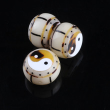 Bagua drum white Bodhi root carving beads beads DIY transport Yin and Yang handicraft accessories accessories series