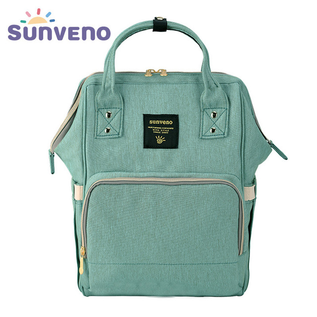 Sunveno Fashion Diaper Bag Multi-function Maternity Nappy Bag Brand Baby Bag M/S SizeTravel Backpack Nursing Bag Baby Care | Happy Baby Mama