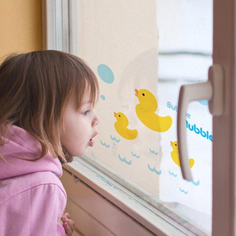 new rhubarb duck window stickers wall decals for kids bathroom tile decoration waterproof wallpaper j2y