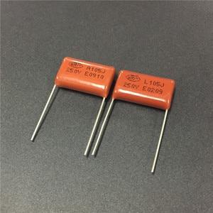 100 шт CBB 105 250V 105J CL21 мкФ P20 Металлизированный Полипропиленовый пленочный конденсатор