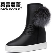 2016 Fashion Wedges Ankle Boot Causal Shoes For font b Woman b font Spring Fall font