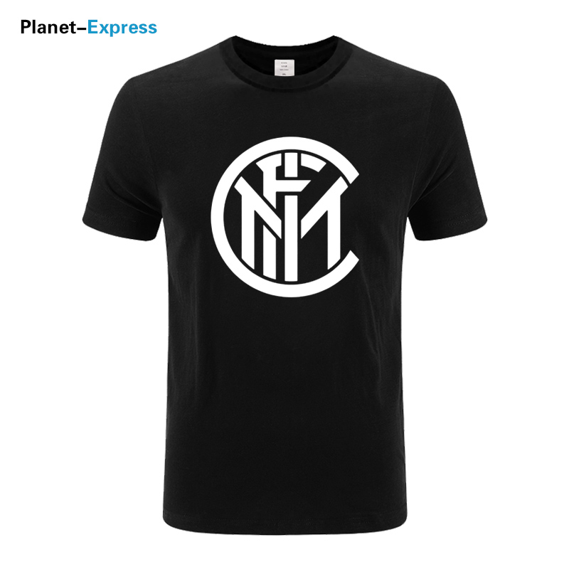 2018 fashion summer mens printing T Shirt - Inter Milan casual cotton Loose t shirt short sleeve o-neck tops tees plus size