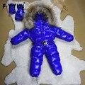 Meninos Snowsuit Meninas Snowsuit Meninos Inverno Macacão Romper Do Inverno Do Bebê Crianças Macacão À Prova de Vento Para Baixo Acolchoado Para O Inverno Em Russion