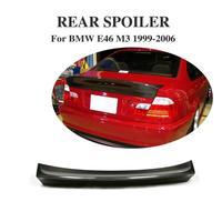 Carbon Fiber Rear Trunk Boot Lip Spoiler Wing For BMW E46 M3 4Door Sedan 1999 2006 Car Styling