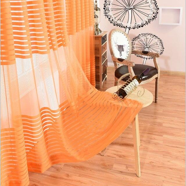 Lusso Europeo Colore Arancione Tende Trasparenti Per Balcone Camera ...