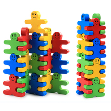 Montessori Toys Educational Wooden Toys for Children Early Learning Cartoon Balance Villain Blocks Exercise Kids Brain 16PCS/lot