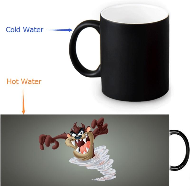 Tasmanian <font><b>Devil</b></font>&Taz Custom Made Design Water Coffee Mug Novelty Gift Mugs Morphing Ceramic <font><b>Cup</b></font> 12 OZ Office Home <font><b>Cups</b></font>