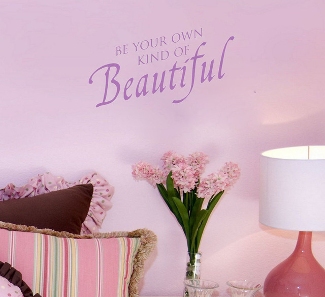 Be Your Own Kind Of Beautiful Wall Art aliexpress : buy be your own kind of beautiful home decoration