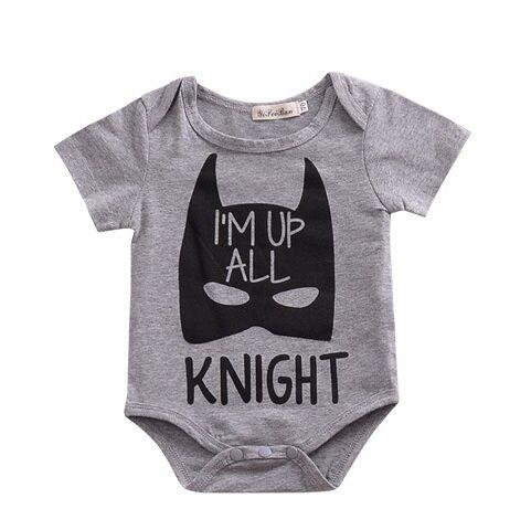 69c7889affd Newborn Baby Girl Boy Clothing 2019 Summer New Products Grey Short sleeve  Batman Jumupsuit Boys Girls Boys Romper
