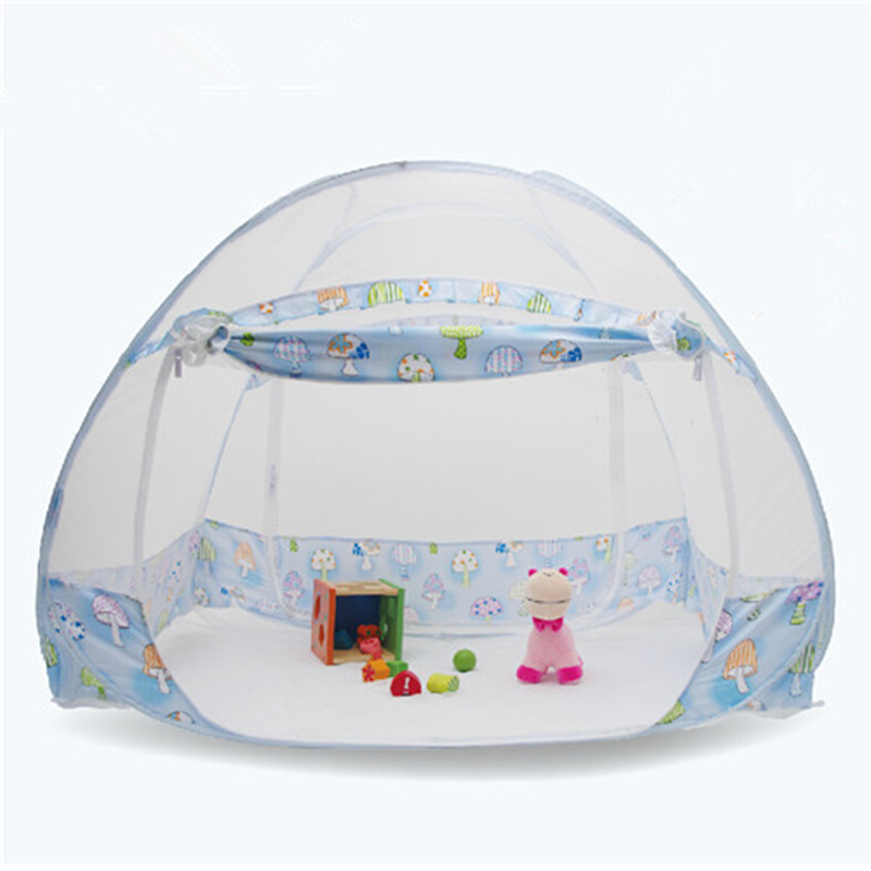 цена на Cute Cartoon Pattern Baby Bed Mosquito Netting Tent Folding Children Bed Mosquito Net Tent Outdoor Kids Camping Netting Tent