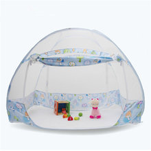 Cute Cartoon Pattern Baby Bed Mosquito Netting Tent Folding Children Bed Mosquito Net Tent Outdoor Kids Camping Netting Tent(China)