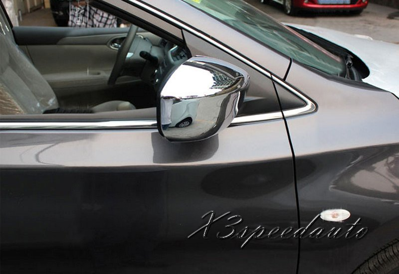 Free Shipping Chromed Side Door Mirror Cover Trim For Nissan