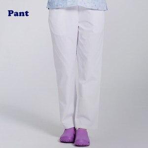Image 4 - ANNO рабочие брюки для доктора, униформа для медсестры, штаны из хлопка с большим количеством карманов, зубные скрабы, штаны для спа ухода