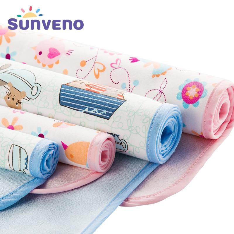 Baby Changing Mat Infants Washable Waterproof Mattress Cartoon Changing Pad Floor Mats Cushion Reusable Diaper