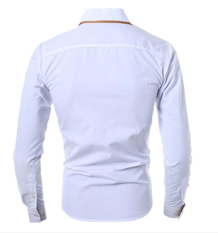 Camisas Rushed Dropshipping Men 2016 Fashion Men 39 s Long sleeved Shirt Solid Color Lapel Brand Casual 2xl size 2xl us L gx70 in Casual Shirts from Men 39 s Clothing