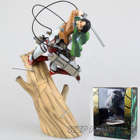 28cm Anime Attack on Titan Levi Ackerman Statue PVC Collection Rivaille battle ver Action Figure Model Toys Kids Birthday Gift