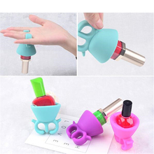 Silicone Finger Ring Nail Polish Holder Manicure tool