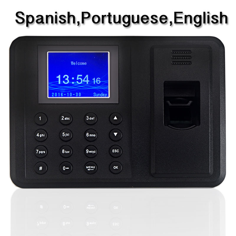 2000 Users Biometric Fingerprint Time Attendance Machine with Low Price Office Time Recorder HR Employee Management biometric time attendance fingerprint time recoorder time clock for office employee with usb support english language