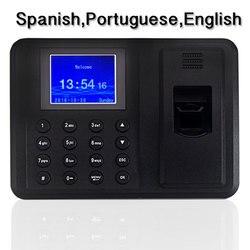 2000 usuarios biométricos de la máquina de asistencia de tiempo de huella dactilar con la grabadora de tiempo de oficina de bajo precio gestión de empleados HR