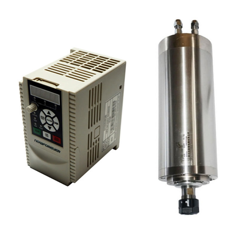 80mm CNC Water Cooled Spindle Motor 800W 1.5KW Frequency Converter VFD Inverter 2.2KW 1.5KW for DIY CNC Milling Machine water cooling spindle sets 1pcs 0 8kw er11 220v spindle motor and matching 800w inverter inverter and 65mmmount bracket clamp