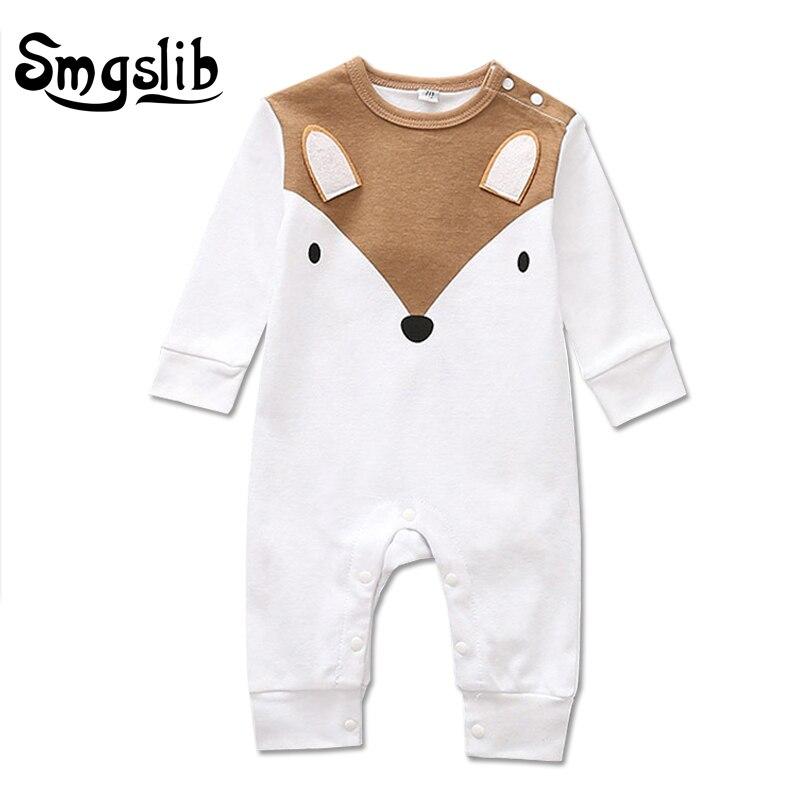 40dbaf2069d Baby girl clothes Cartoon Fox Bear costume for baby boy long sleeve romper  jumpsuit unisex baby