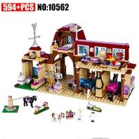 10562 Girls Friends Heartlake Riding Club Building Blocks 594Pcs Kids Model Bricks Toys Compatible 41126 Friends