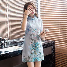 2018 new chinese traditional dress women chinese dress qipao side slit cheongsam chinese style modern oriental dresse