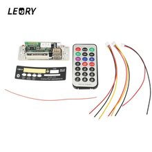 LEORY Mini Digital Display bluetooth MP3 Decoder Board With USB UDisk TFCard Jack Remote Control Wire MP3 Audio Amplifier Board(China)