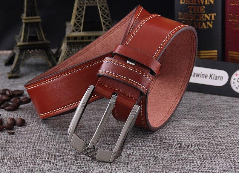 Dynamic Automatic Buckle Split Leather Men Casual Belts Black Blue Brown Crocodile Belt For Men High Quality Ceintures Homme Men's Belts
