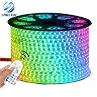 SMD 5050 RGB 110V 220V LED Strip 10M 50M 60leds M IP65 Waterproof Strip Lights Power