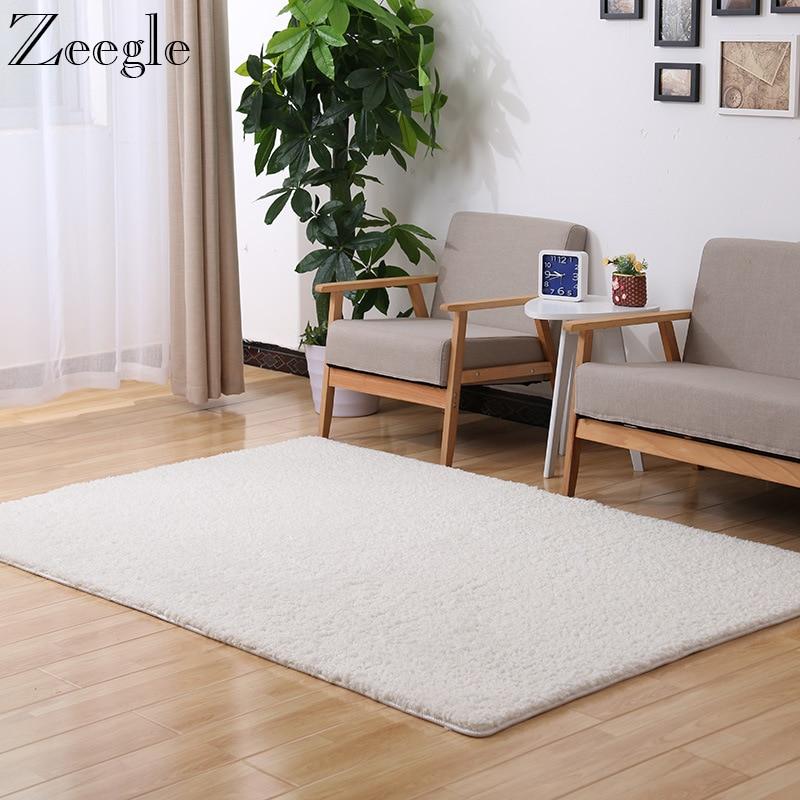 Zeegle Home Long Plush Carpet For Living Room Soft Carpets ...