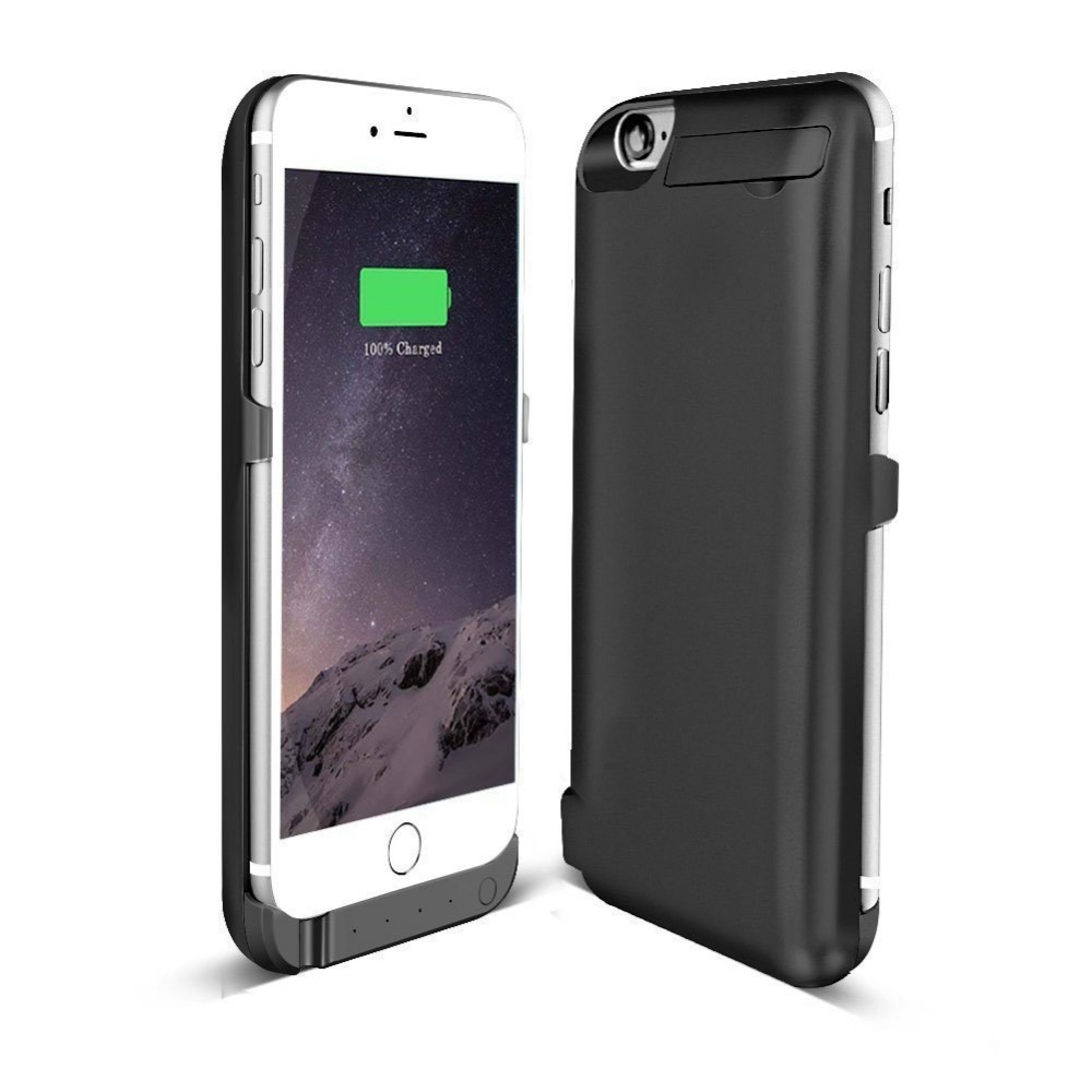 imágenes para NUEVO Para el iphone 6 6 S Caso de la Energía 10000 mAh Paquete de Reserva Externo Del Cargador de Batería Batería Extendida para el iphone 6 6 S