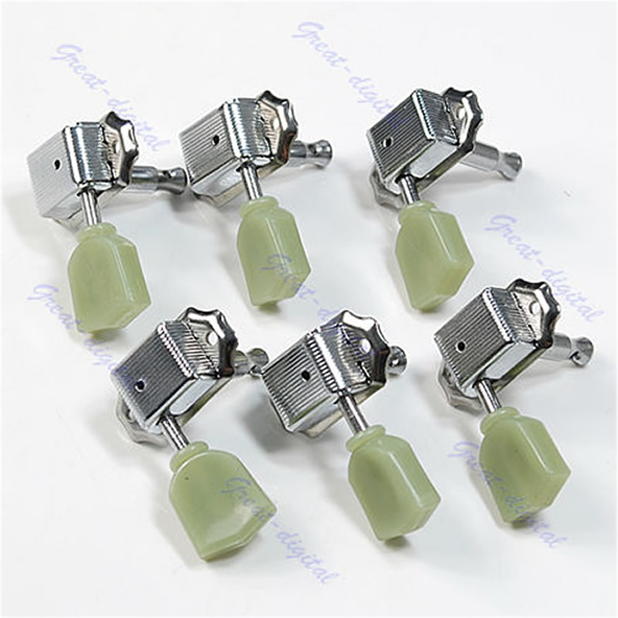 Guitar 3R 3L Deluxe Tuning Pegs Machine Heads Tuners 1set 3l 3r classical guitar string tuning pegs tuners machine heads open gear