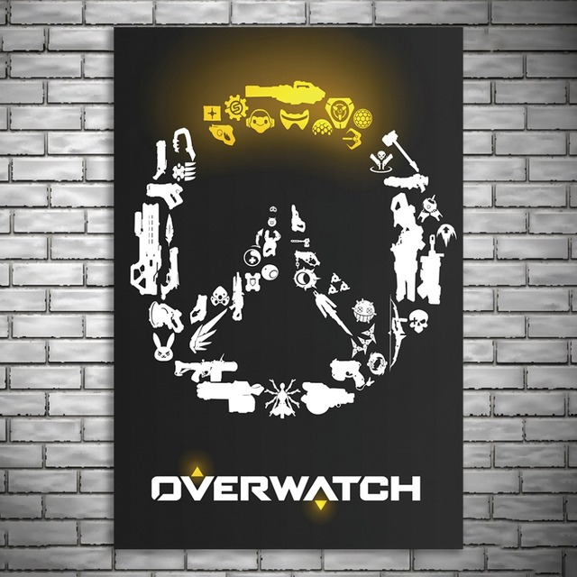 NUOMEGE Overwatchs Game Artwork Silk Canvas Art Poster Paintings Print Wall Pictures For Living Room Home Decoration Unframe 4