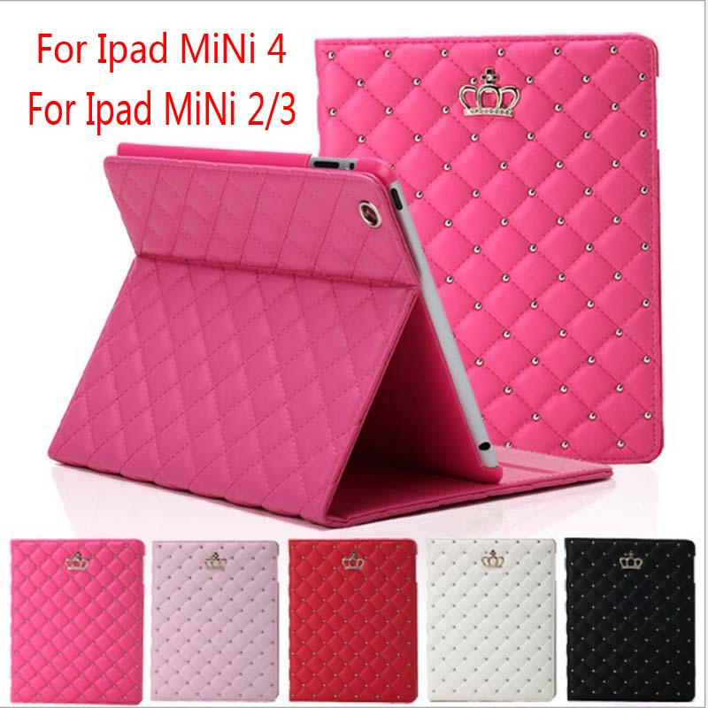 For iPad MiNi 4 Case Cover Auto Sleep 360 degree protection Stand Magnetic Smart Tablet Case Cover For iPad MiNi 1/2/3