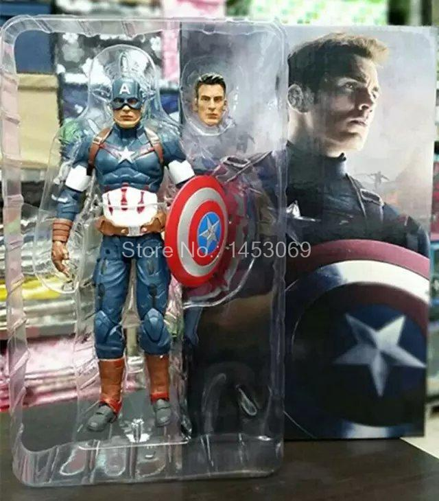 Avengers Age of Ultron Captain America PVC Action Figure Collectible Model Toy 9 23cm shfiguarts batman injustice ver pvc action figure collectible model toy 16cm kt1840