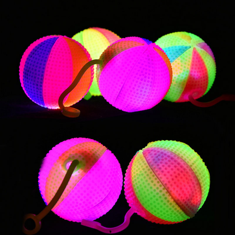 2018 Light Up Colors Baby Toys LED Flashing Bounce Exercise Finger Playing Children Gift Glow Party Supplies Christmas New Year