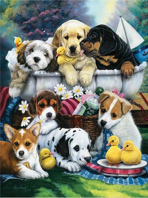 Алмазная вышивка собаки фото