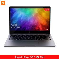 Oryginalny Xiaomi Ultraslim laptopa Air 13.3 Intel i5/i7 Quad Core 8GB DDR4 256GB pcie SSD MX250 2GB rozpoznawania linii papilarnych domu PC 1