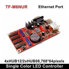 LongGreat TF M6NUR Red y USB Driver RS232 puertos tarjeta de Control LED 768*64 pixeles, P10 P16 P20 mensaje Signboard Big