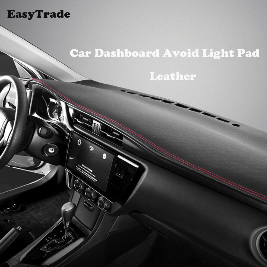 Car Dashboard Avoid light pad Leather Instrument platform desk cover Mats Carpets Accessories for Nissan X Trail X Trail in Interior Mouldings from Automobiles Motorcycles