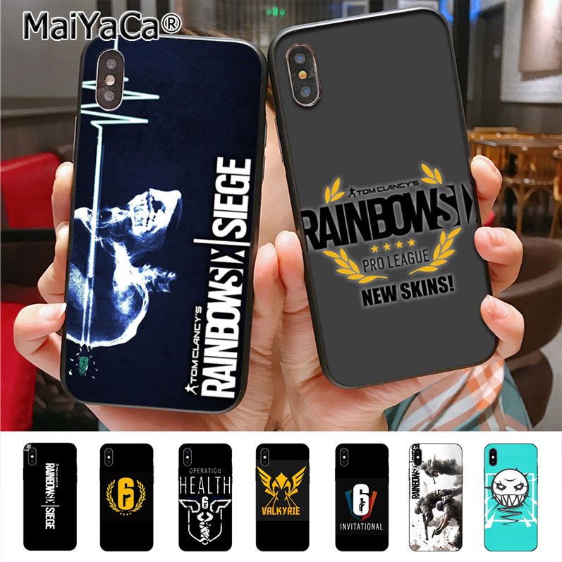 Maiyaca Rainbow Six Siege Luxury High End Phone Accessories Case For