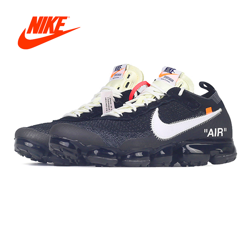 Original oficial limitada Nike X blanco aire VAPORMAX OFW zapatos corrientes de los hombres clásicos al aire libre calzado deportivo AA3831