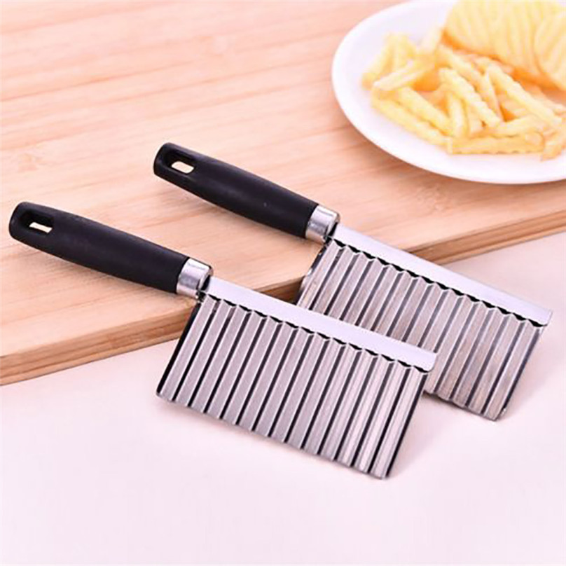 Potato Wavy Edged Tool Stainless Steel Kitchen Gadget Vegetable Fruit Cutting #3d07 (1)