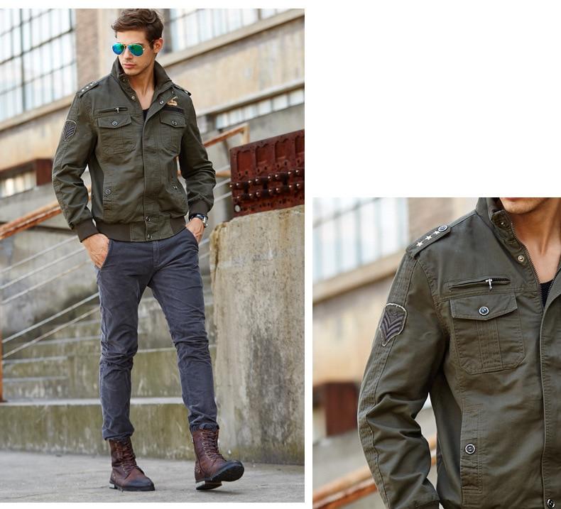 LONMMY M-4XL Markenkleidung Bomberjacke Herren Mantel Baumwolle - Herrenbekleidung - Foto 5